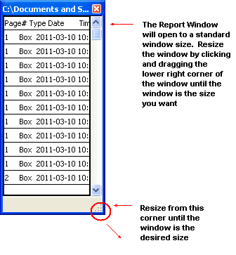 Redax report window