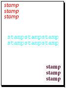 Multiline stamp
